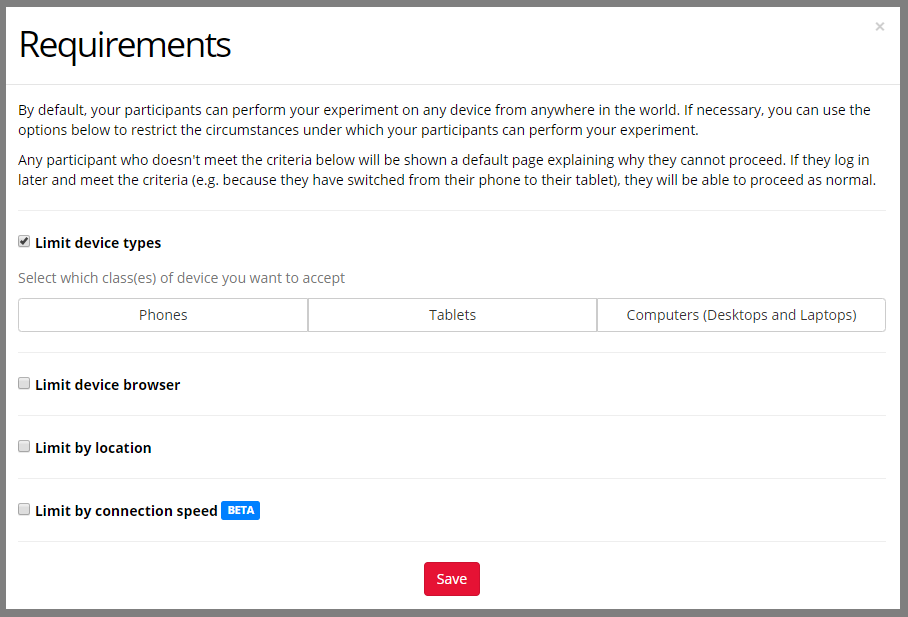 /ETree Recruitment tab Layout Recruitment-REQUIREMENTS-MENU-open limit-device-types