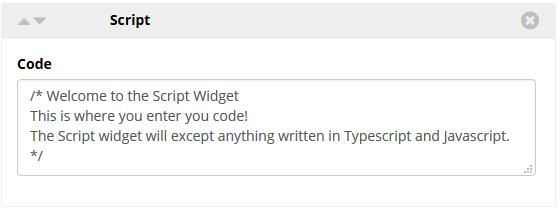 Script Widget Image Example
