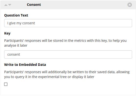 Consent Box Widget example