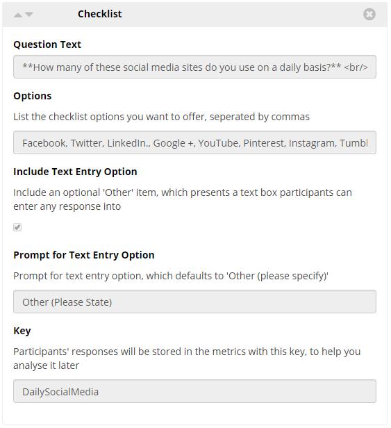 Checklist Widget Image Example