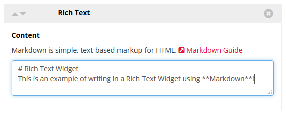 Rich Text Widget Example